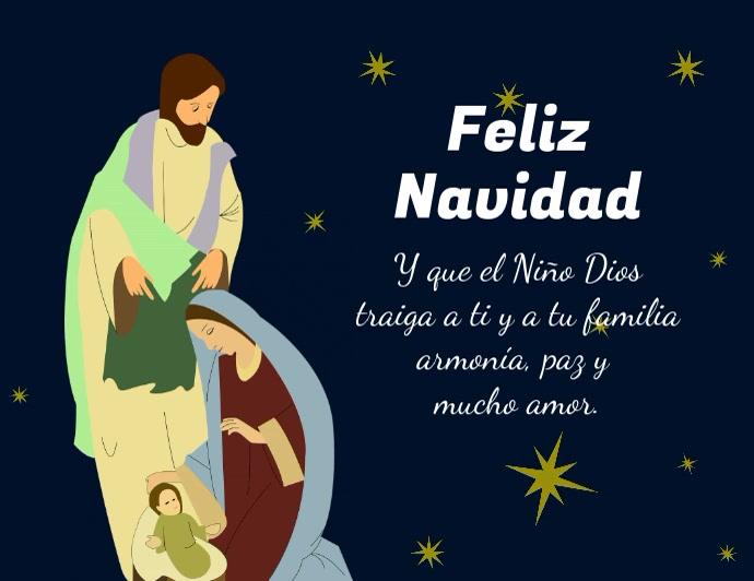 Pesebre de Navidad con Jesus Maria y José Flyer (US-Letter) template
