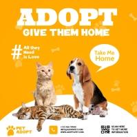 pet adopt Instagram-opslag template