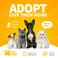Pet Adoption Ads 方形(1:1) template