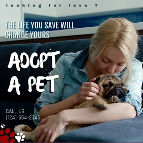 pet adoption ads