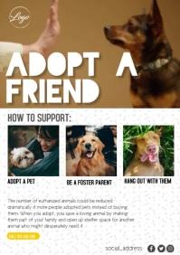 PET ADOPTION A4 template