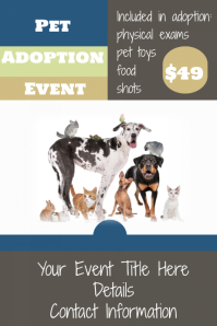Pet Adoption Event Flyer Pet Veterinarian Clinic Retail Sale