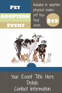 Pet Adoption Event Flyer Pet Veterinarian Clinic Retail Sale
