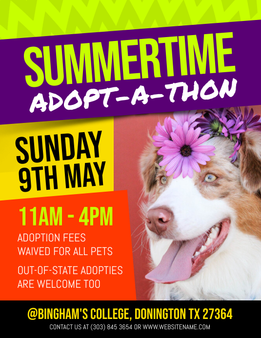 Pet Adoption Flyer Template Postermywall