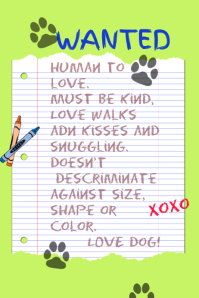 370 Customizable Design Templates For Dog Adoption Postermywall