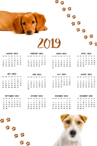 Pet Calendar 2019 Photo Template