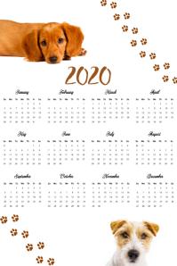 Pet Calendar 2020 Photo Template