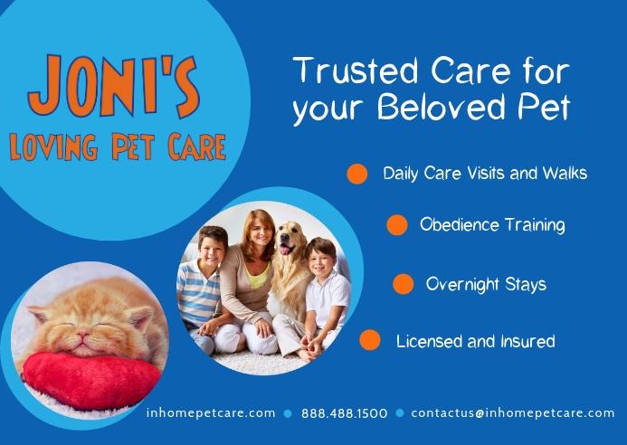Pet Care Business Postcard