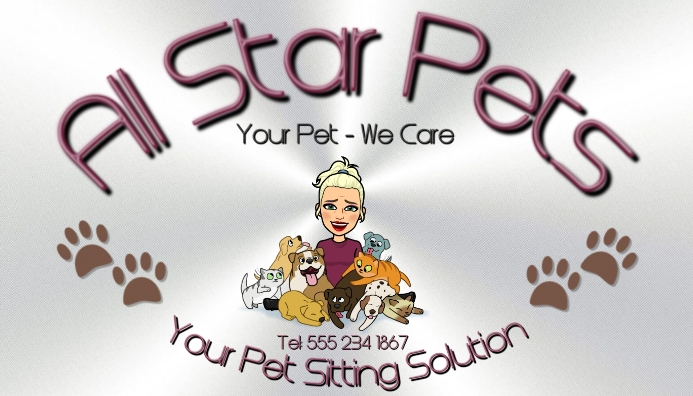 Pet Care Card 名片 template