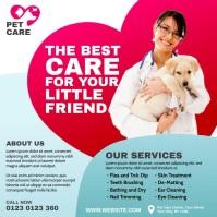 Pet Care Center Ad Instagram Post template