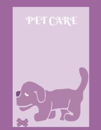 Pet care poster