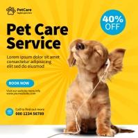 Pet Care Service สี่เหลี่ยมจัตุรัส (1:1) template
