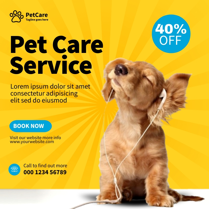 Pet Care Service Square (1:1) template