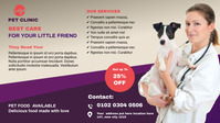 Pet clinic Facebook cover Post template