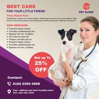 Pet clinic instagram Post template