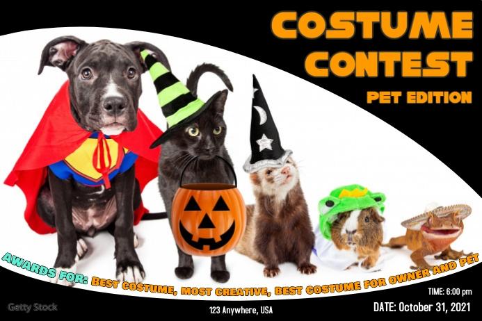 pet costume contest Этикетка template