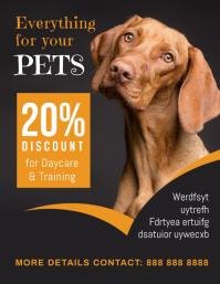 pet Flyer (format US Letter) template