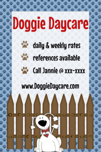 Pet Dog Daycare Pet Sitting Announcement Flyer Poster