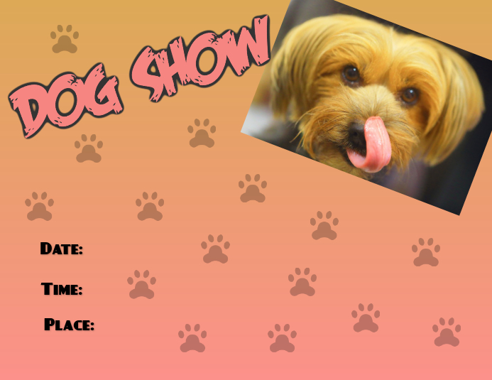 Pet Dog Show Flyer
