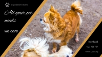 pet flyer template Digital Display (16:9)