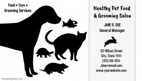 Pet food and grooming salon