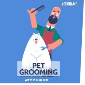 PET GROOMING AD ADVERT SOCIAL MEDIA TEMPLATE