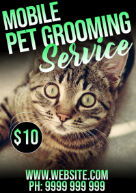 Pet Grooming A5 template