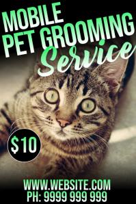 Pet Grooming Poster template