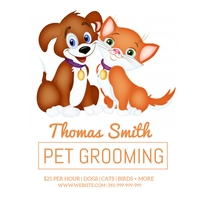 Pet Grooming Poster Instagram-bericht template