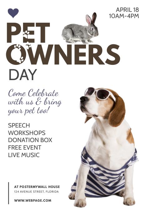 Pet Owner Day Flyer Template Poster