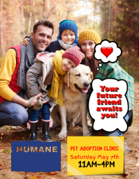 Pet rescue adoption event Flyer