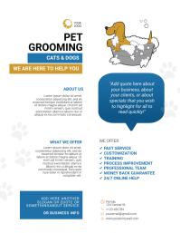 pet salon flyer template
