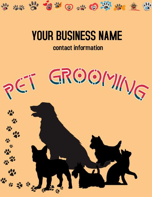 PET SERVICES Flyer (US Letter) template