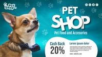 Pet Shop Banner Видеообложка профиля Facebook (16:9) template