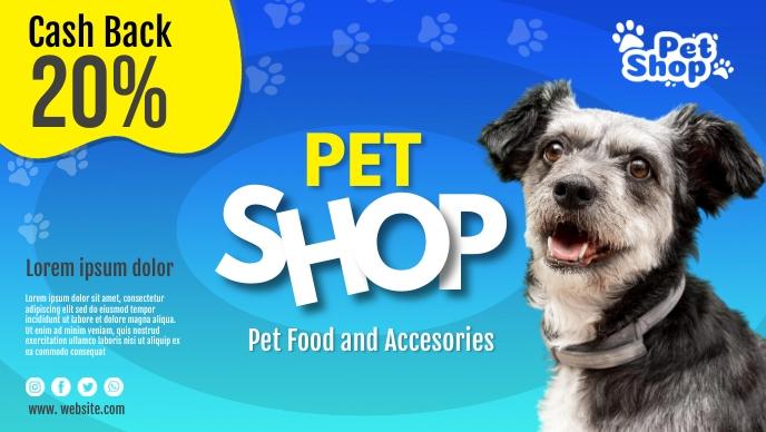 Pet Shop Cover Facebook-covervideo (16:9) template