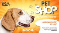 Pet Shop Facebook Cover Video (16:9) template