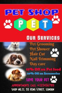 Pet Shop Dog Cat, Animal Poster Flyer