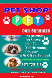 Pet shop Grooming flyer
