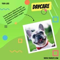 dog daycare instagram post flyer design template