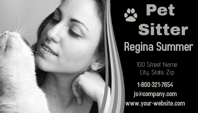 Pet Sitter Business Card 名片 template