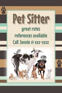 Pet Sitter Dog Walker Pet Adoption Dog Groomer Event Flyer