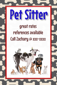 Customizable design templates for dog walker postermywall pet sitter dog walker vet pet adoption event flyer poster maxwellsz