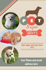 Pet Sitter Flyer Announcement Poster