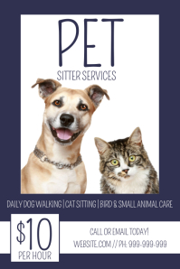Pet Sitter Poster template