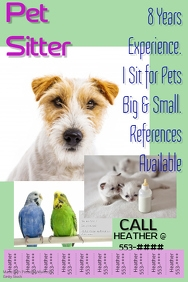 Pets flyer templates postermywall dog walker flyer tabbed template pet sitter saigontimesfo