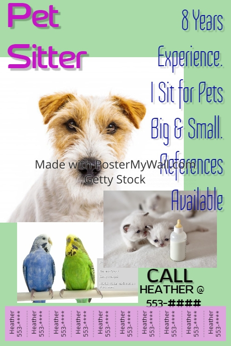Pet Sitter Template | PosterMyWall