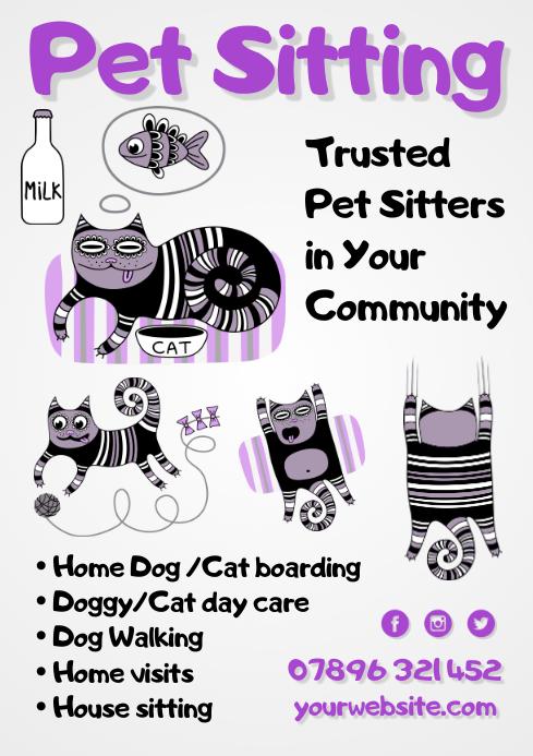 Pet Sitting Flyer