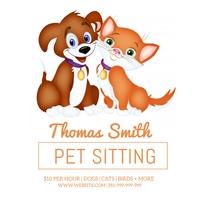 Pet Sitting Poster Сообщение Instagram template
