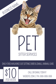 Pet Sitting Poster template