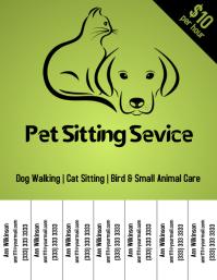 Pet Sitting Service flyer color template